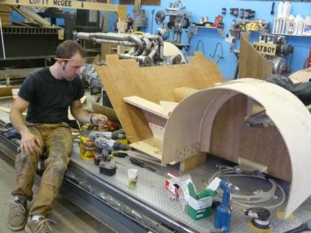 Joe Harmon working on the Splinter