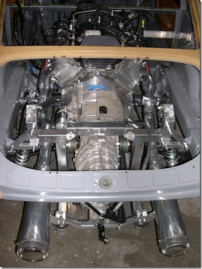 engine and tranny mounted